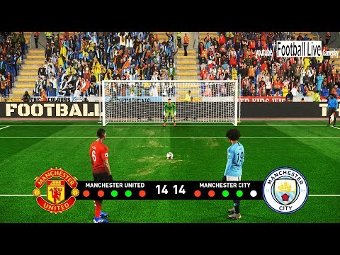 PES 2019 | Penalty Shootout | MANCHESTER UNITED vs MANCHESTER CITY | Gameplay PC