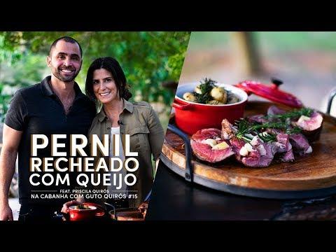 Como Fazer Pernil Recheado com Queijo feat. Priscila Quirós | Na Cabanha com Guto Quirós #15