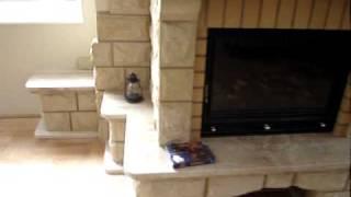 kominek z piaskowca