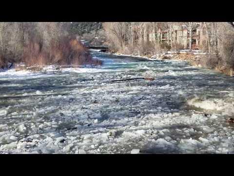 January 4, 2019 Ice Jam Break on Roaring Fork River in Basalt, Colorado