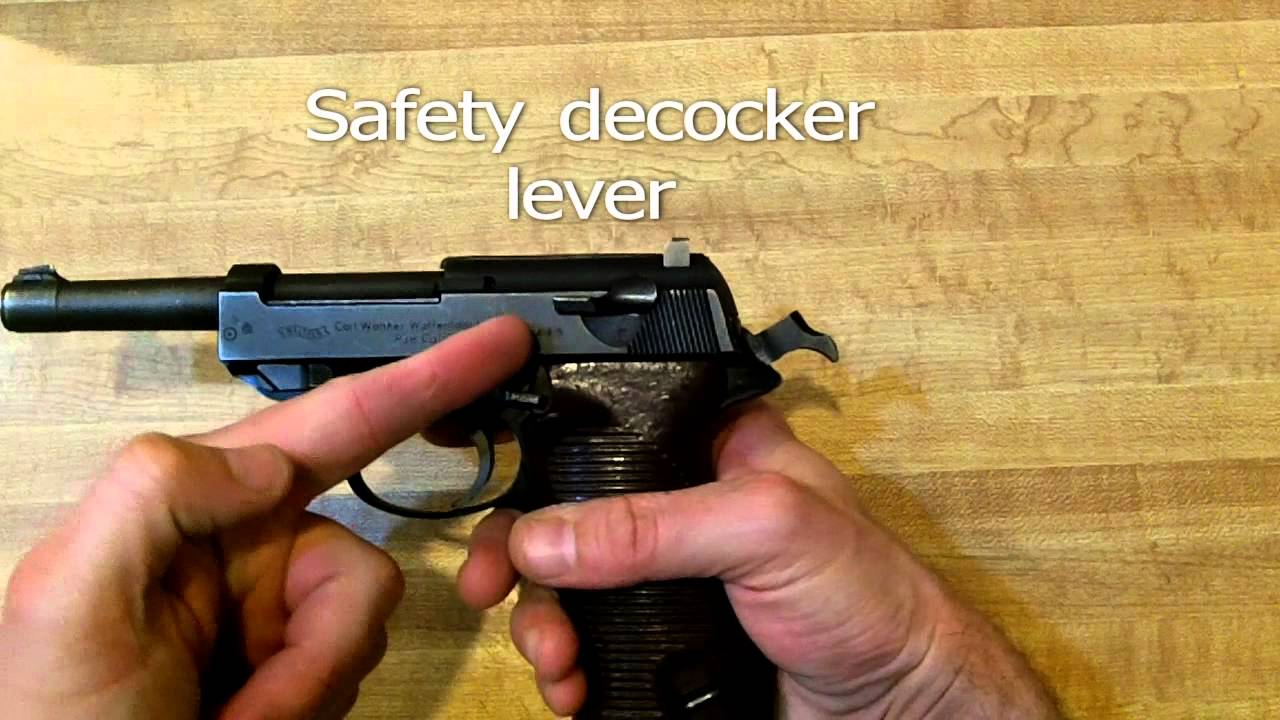 Field strip walther p38 cleaning