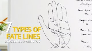 Palmistry - 7 Types of FATE LINE and their Meaning screenshot 1