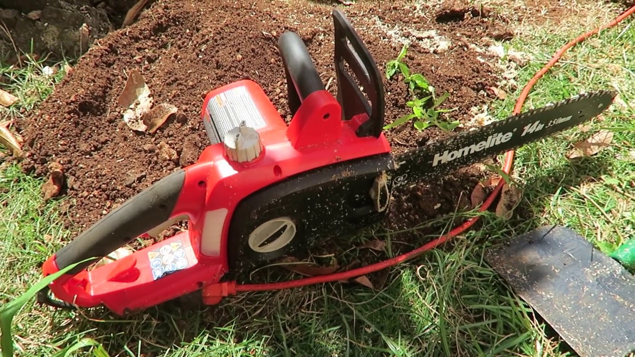 Homelite electric chainsaw 14 inch 9 amp motor youtube homelite electric chainsaw 14 inch 9 amp motor greentooth Gallery
