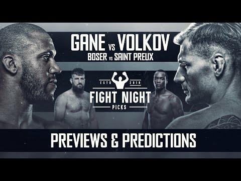 UFC Fight Night: Gane vs. Volkov Full Card Previews & Predictions