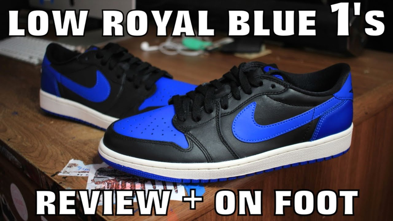 e36ecd37895cd5 ROYAL BLUE 1 LOW REVIEW + ON FOOT! - YouTube