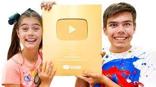Nastya và Artem nhận được một nút vàng và một bất ngờ làm quà tặng