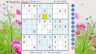 Explore the sudoku game every day | sudoku Hard 2017 | sudoku for beginners