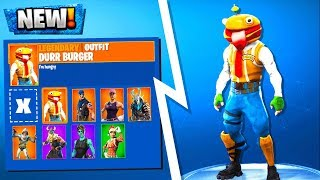 *NEW* Durr Burger Skin CONFIRMED! Fortnite Season 5 Skins Leaked Durr Burger Hero + Fuzzy Bear Panda