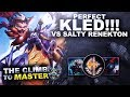 PERFECT KLED VS SALTY RENEKTON! - Climb to Master | League of Legends