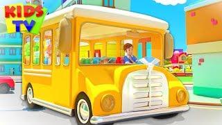 Wheels On The Bus | Junior Squad Cartoons | Nursery Rhymes for Kids | Babies Kindergarten Songs