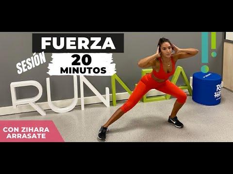Sesión de fuerza para runners 20 minutos con Zihara