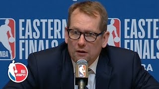 The Raptors were 'a step too slow' vs. the Bucks in Game 2 - Nick Nurse | 2019 NBA Playoffs