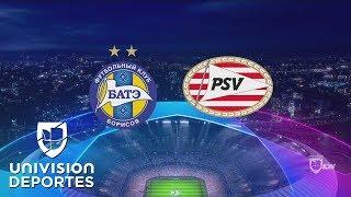 BATE Borisov 2-3 PSV Eindhoven - RESUMEN Y GOLES - Play-Offs UEFA Champions League