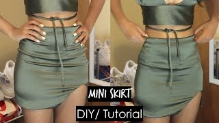 DIY| Mini Skirt|| Bralet & Mini Skirt Set Part 2