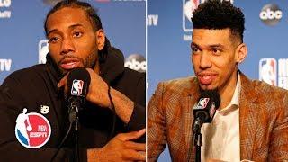 Kawhi Leonard and Danny Green Game 3 postgame interviews   2019 NBA Finals