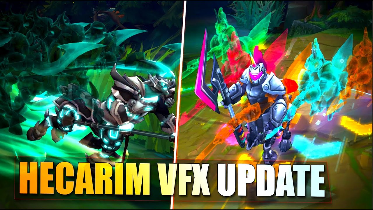 HECARIM VISUAL EFFECTS UPDATE ALL SKINS & COMPARISON - League of Legends