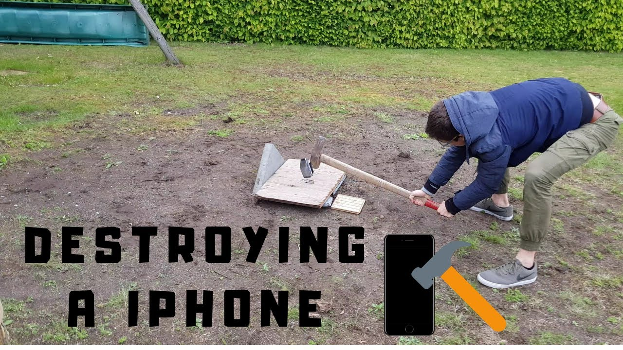 DESTROYING A IPHONE SE !!!