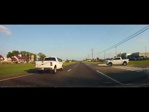 Driving through Millsboro, Delaware