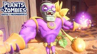 Twin Super Brainz vs Giant Flower - Plants vs. Zombies Battle for Neighborville - Gameplay Part 49