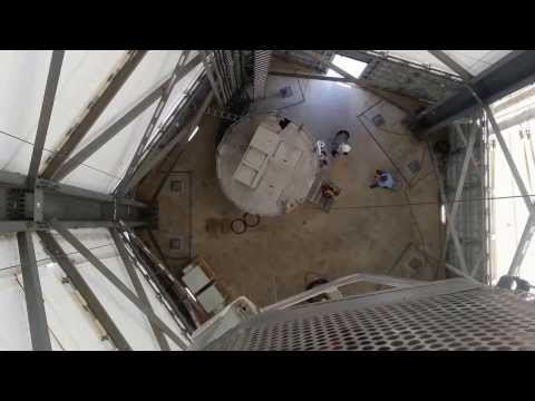 Coming Down Inside the New GE Space Frame Turbine Tower