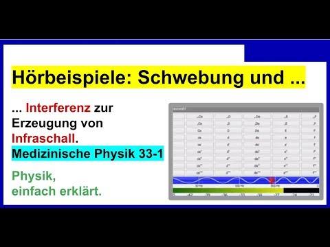 Hörbeispiele: Schwebung und Interferenz (Unterschied), Interferenz zur Erzeugung von Infraschall