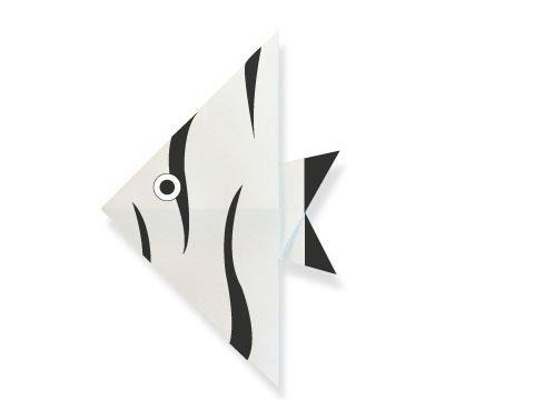 Cách gấp, xếp con cá thiên thần bằng giấy origami - Video hướng dẫn