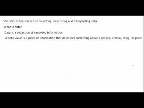 Collect, Describe, and Interpret Data