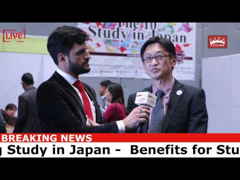 Study in Japan - Giving interview by the Secretary of Japan Embassyon Crown YouTube Channel