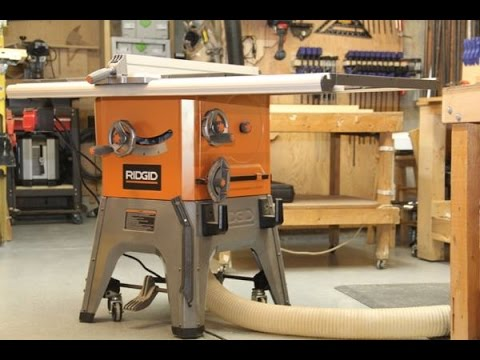 Ridgid 10 inch 13 amp table saw model r4512 youtube greentooth Image collections