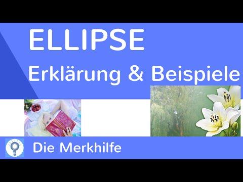 Ellipse - Was ist eine Ellipse? - Erklärung & Beispiele | Rhetorisches Stilmittel/ Figur