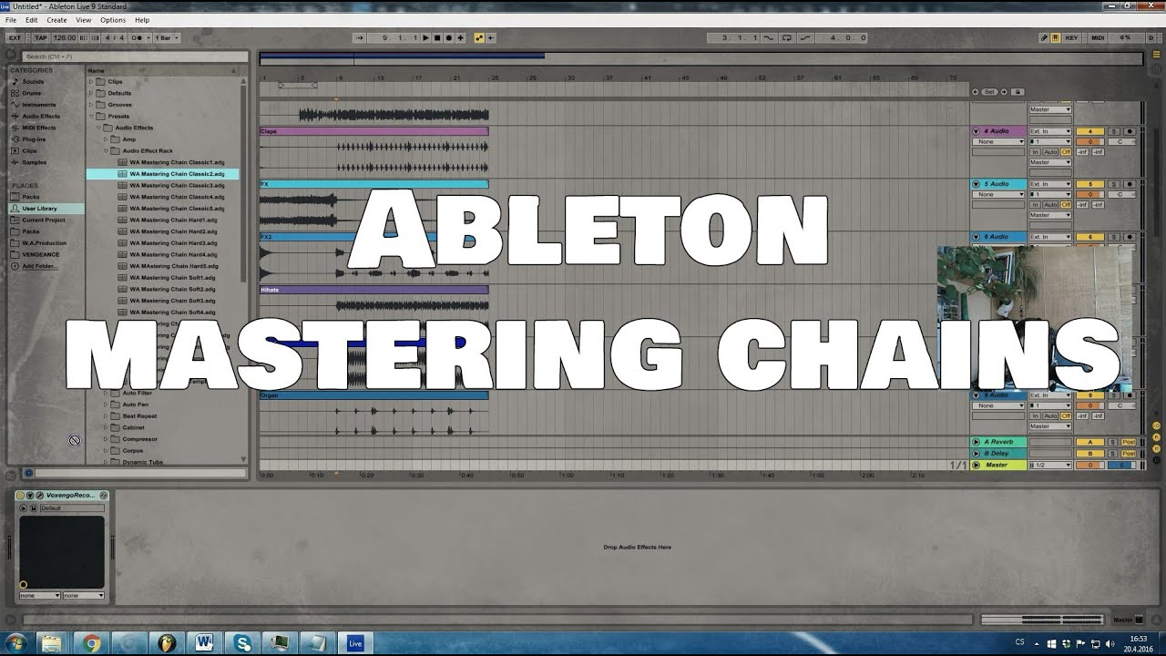 mastering ableton chain