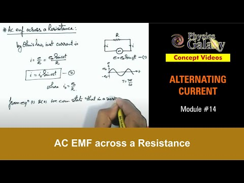 14. Physics | Alternating Current | AC EMF across a Resistance | by Ashish Arora