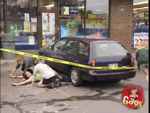 Parking lot hit and run prank