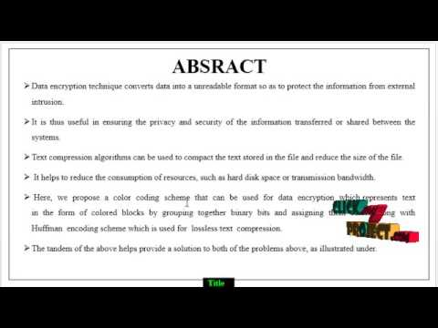 Color Coded Cryptography | Final Year Projects 2016