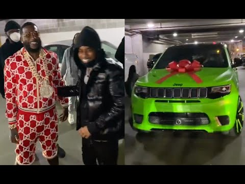 Pooh Shiesty Speechless After Gucci Mane Blesses Him With A Slime Trackhawk With Custom 1017 Rims