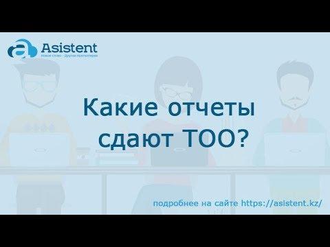 Какие отчеты сдают ТОО? asistent.kz