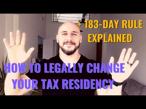 How To Legally Change Your Tax Residency + 183-Day Rule Explained