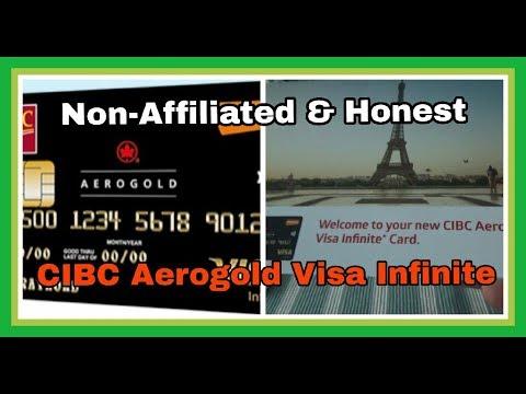 Non-Affiliated | CIBC Aerogold Visa Infinite Credit Card Unboxing & Review |