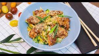Азиатский салат с тёплой куриной грудкой | Первое, второе, третье
