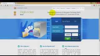 Digilocker الهند بوابة كيفية إنشاء حساب تسجيل الدخول