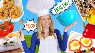How to Cook Healthy Food! 10 Breakfast Ideas,  Lunch Ideas \u0026 Snacks for School, Work!