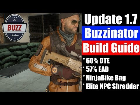 "THE DIVISION | ""Buzzinator"" Ninjabike Build Guide - 1.7 Elite NPC Shredder"
