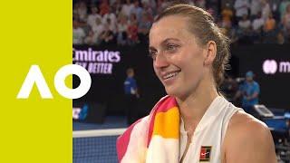 Petra Kvitova on-court interview (QF) | Australian Open 2019