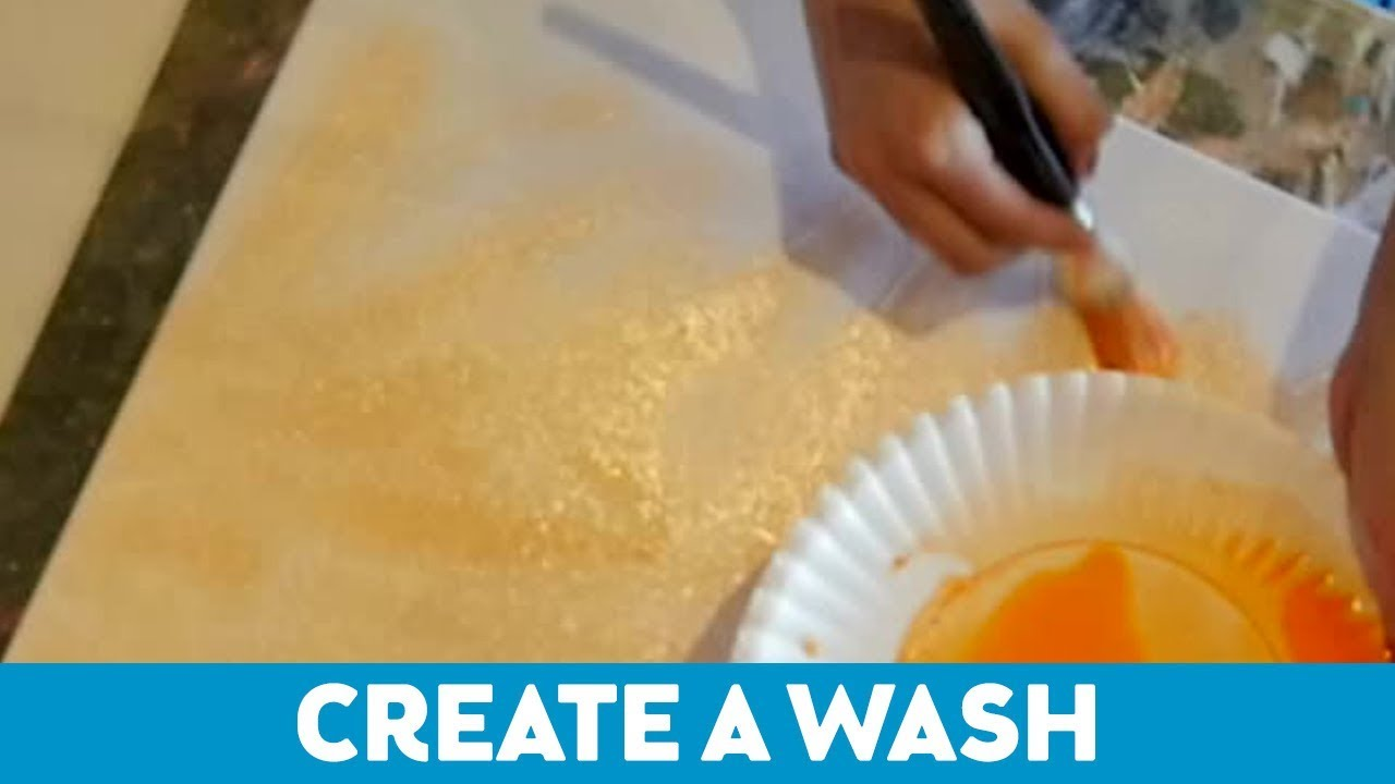 Art Tips for Non-Artists: How to Create a Wash - YouTube
