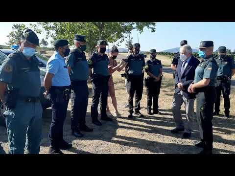 El subdelegado visita el dispositivo de verano de la Guardia Civil 26.7.21