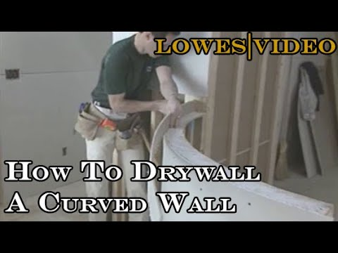 How To Drywall A Curved Wall Youtube