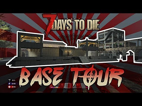 7 Days To Die Best Base Design Build 2018 Kill Arena Bomb Shelter Tree House Guest House Youtube