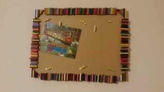 DIY memo board picture frame Thumbnail