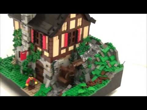 Lego Working Water Mill - in action!