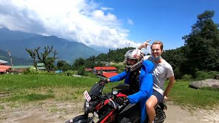 RIDING FROM POKHARA TO DHAMPUS with AKR vlogs